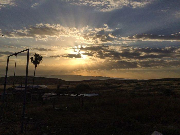 Scenic shot of sunset over landscape