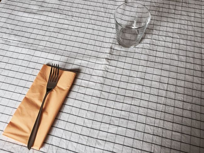 Indoors  Minimal Checkered White Black Glass Fork Table Colors And Patterns