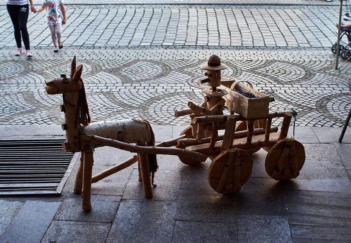 Jawor Car City Craft Handicraft Horse Jaworzno Men Outdoors People Poland Sculpture Street
