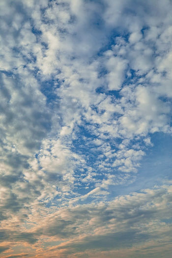 Cloud - Sky Sky Low Angle View Beauty In Nature Scenics - Nature Tranquility Tranquil Scene No People Nature Backgrounds Idyllic Cloudscape Day Outdoors Full Frame Blue White Color Dramatic Sky Environment Meteorology