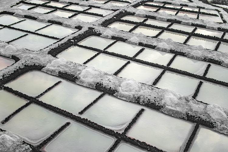 Full frame shot of building roof during winter