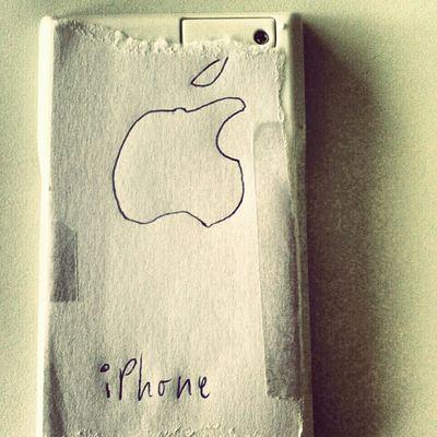 improvised iphone Apple White Paper Calculator Scribble IPhone