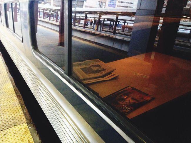 Train Window Newspaper