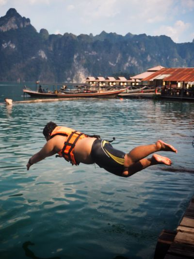 Live For The Story Lifestyles Real People Summertime Summer Vibes Enjoying Life Lake Jumpshot Jumping Surathani Kaosok Live For The Story