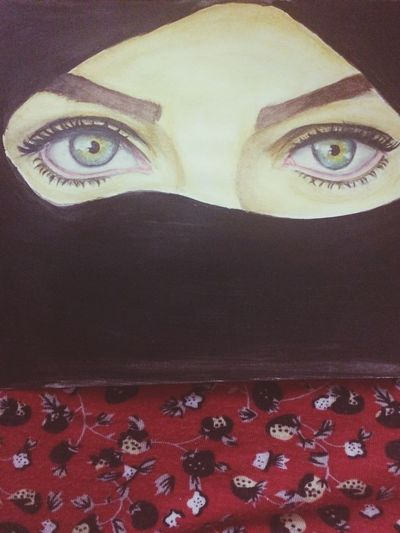رسم الفنانه نوره الجهني لعيوني