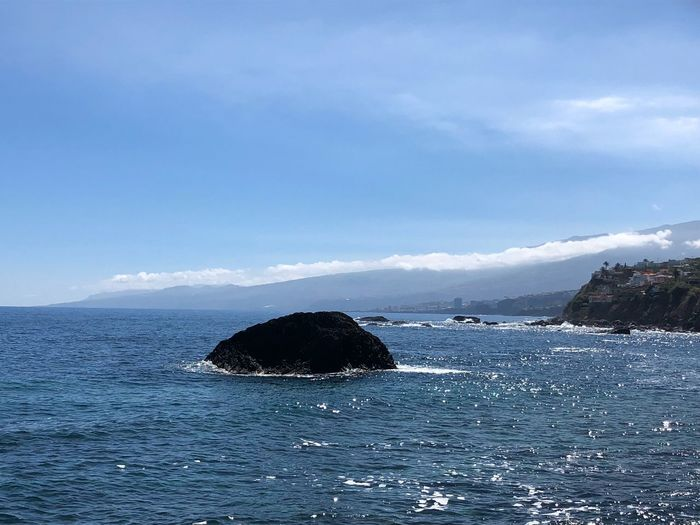 Norte de la isla de Tenerife Water Sea Sky Cloud - Sky Beauty In Nature Scenics - Nature Nature Waterfront Blue Tranquility Rippled Non-urban Scene Day No People Solid Tranquil Scene Rock Rock - Object Outdoors My Best Photo