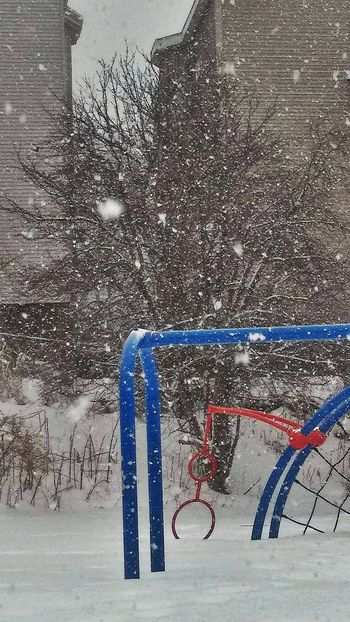 Lets play!! ~ No People Day Outdoors Close-up My Neighborhood. Cold Temperature Winter Loving The Landscape Playground My Point Of View Built Structure Tranquility Beauty In Nature City Happy Moments Snowstorm 2018 Time To Reflect My Life In Portland Maine USA
