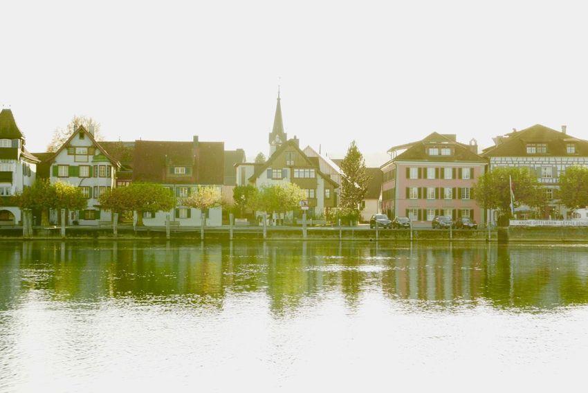 Reflection Lumix Lx100 Gottlieben Konstanz Thurgau Architecture Building Exterior Built Structure House Water Day Travel Destinations Outdoors Tranquility