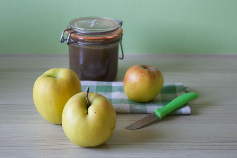 Food And Drink Healthy Eating Food Fruit Wellbeing Freshness Apple - Fruit Jar Container Apple Jam Cooking Homemade Compote