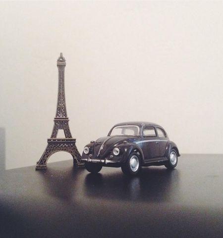 Taking Photos Beetle Souvenir Eiffel Tower