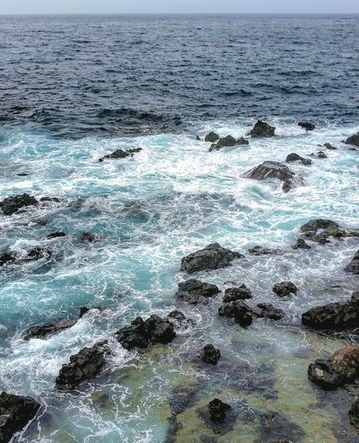 Ocean Sea Water Wave Nature No People Backgrounds Day Beauty In Nature Horizon Over Water Tenerife. Tenerife Island