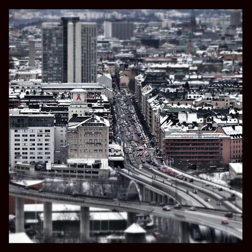 #snapseed #sweden #stockholm #globen #skyview #road #buildings #cars #ericssonglobe Stockholm Road Cars Buildings Sweden Skyview Snapseed Globen  Ericssonglobe