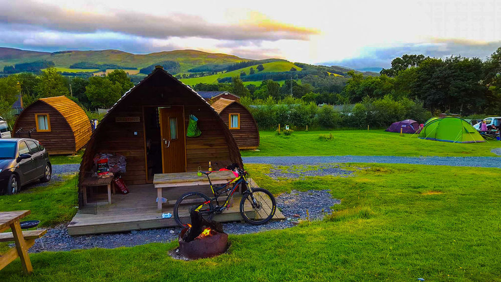 Barbecue Beauty In Nature Camp Fire Cloud - Sky Forest Lodge Glamping Glentress Grass Mountain Mountain Biking Nature Outdoors Sky Tranquility Wigwam The Week On Eyem