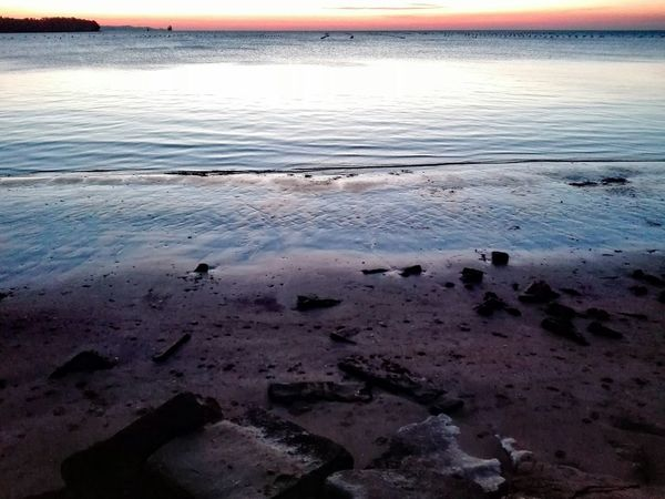 Reflection Streetphotography Beach Water Sunset Nature Dusk No Filter Outdoors Twilight Sand Trieste No Filters  Beauty In Nature Smartphonephotography Lazzaretto From My Point Of View No People Muggia, Trieste
