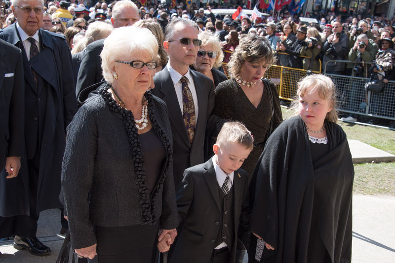 Mother Diane Ford during Rob Ford funeral march and ceremony. He was a former Toronto Mayor who lost the fight with cancer and passed away at 46 years old Ceremony City Dead Death Demonstration Fight Against Cancer Former Funeral Many March Mayor Morning People Personality  Rob Ford St. James Cathedral Supporters Toronto Urban Walking