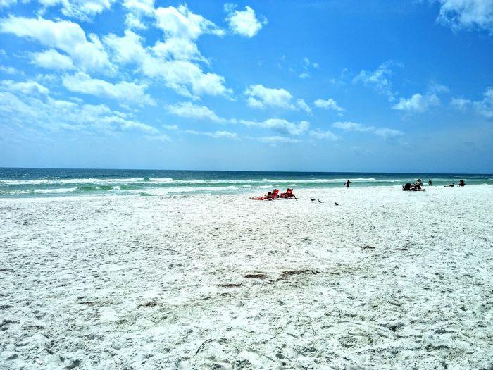 Water Sea Beach Sand Summer Blue Sky Cloud - Sky Sandy Beach Calm Coastline