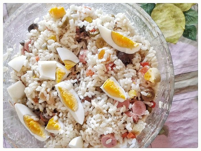 Insalata Di Riso Food Healthy Eating Rice Salad Ready-to-eat Day Smartphone Photography