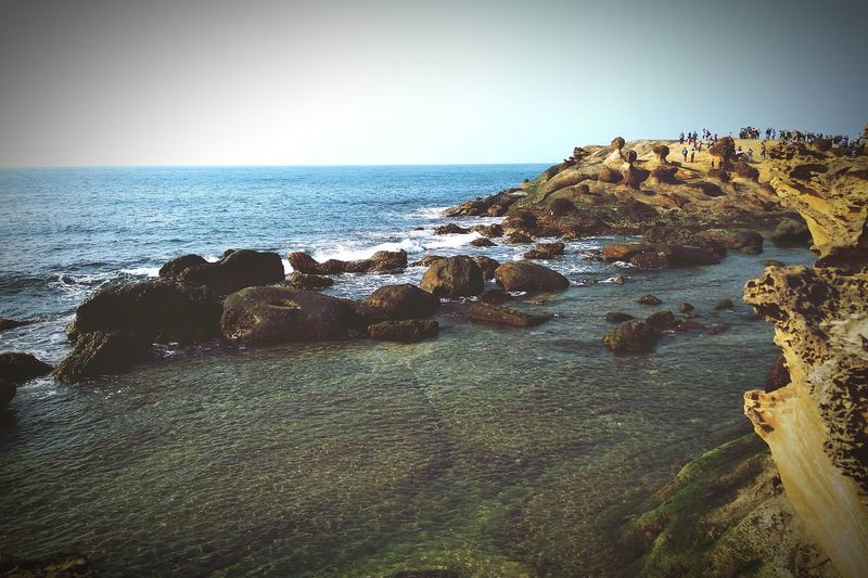 EyeEm Selects Sea Beach Nature Sky Outdoors Clear Sky Beauty In Nature Rock - Object