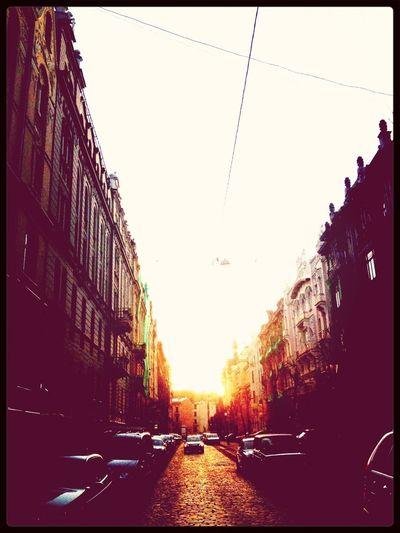 Sunset City Jugendstil Evening Sky