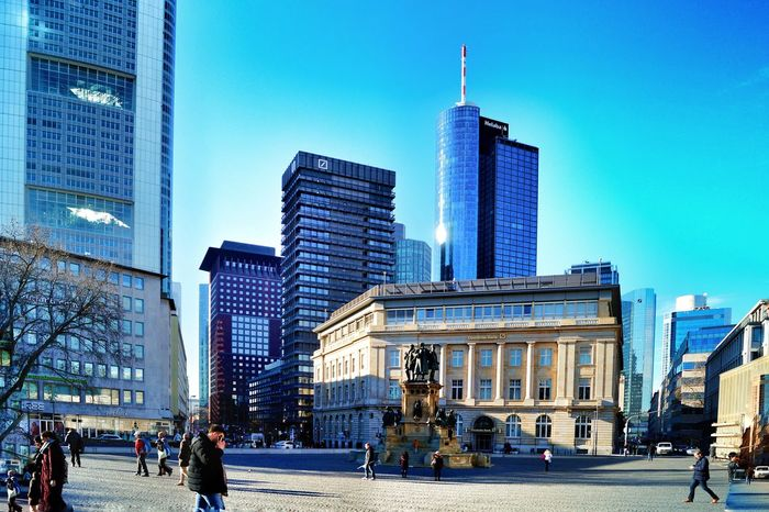 That's Frankfurt!!! Old And New Architecture Historical Monument Memorial City Skyscraper Architecture Building Exterior City Life Travel Destinations Modern Sky Built Structure Cityscape Business Urban Skyline Outdoors Downtown District Day High Noon in Frankfurt Am Main Germany🇩🇪 Adapted To The City The City Light The Street Photographer - 2017 EyeEm Awards The Architect - 2017 EyeEm Awards Your Ticket To Europe Been There.