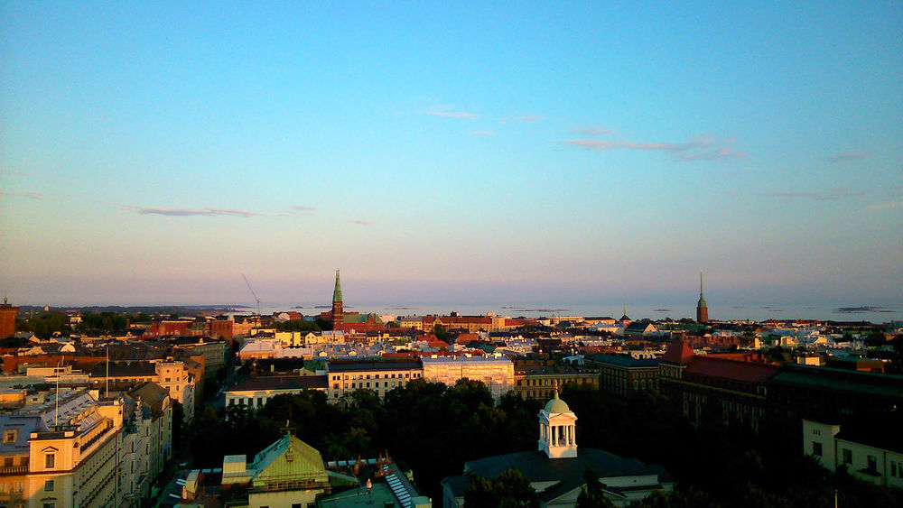 Cityscapes City Views Helsinki Early Evening Summer Seeing The Sights