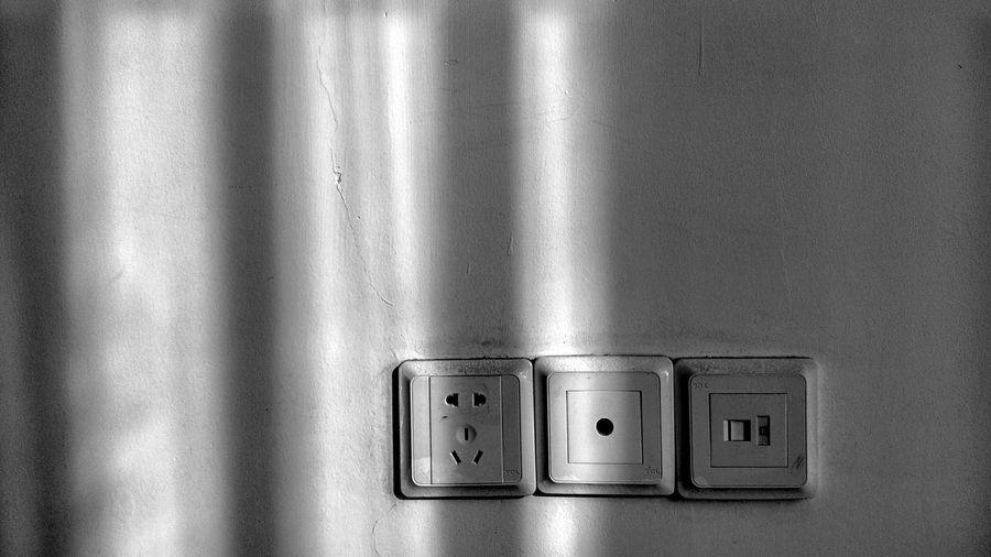 Close-up of socket on wall at home