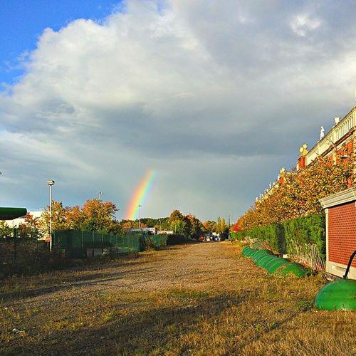 Half-rainbow over BartonSquare Igersmcr Manchester Mcruk