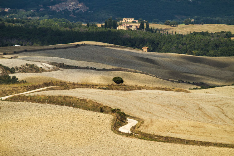 EyeEm Selects Sand Outdoors Nature No People Day High Angle View Tranquility Landscape Beauty In Nature Tuscany Tuscany Countryside Tuscany Landscape Tuscanycourtyard Valdorcia