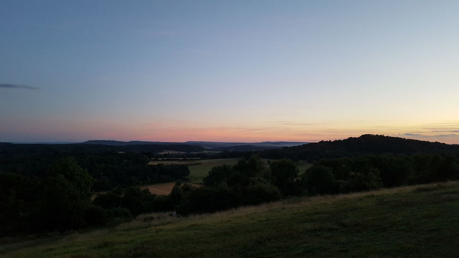 Landscape Tranquility Countryside Clear Sky Sky Calm Outdoors Nature Outside Taking Photos Summer Sunset Evening Dusk Newlands Corner Newlands