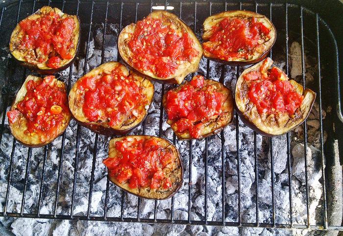 Cibo Delizioso  Cibo Sano Ciboitaliano Food Food And Drink Melanzanegrigliate Pomodoro Preparation