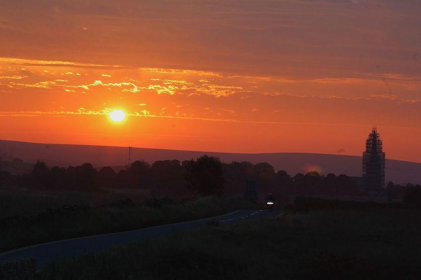 Beautiful Day Sunset Orange Color Nature Outline Beauty In Nature Landscape Orange Colour Lancashire UK Dramatic Sky
