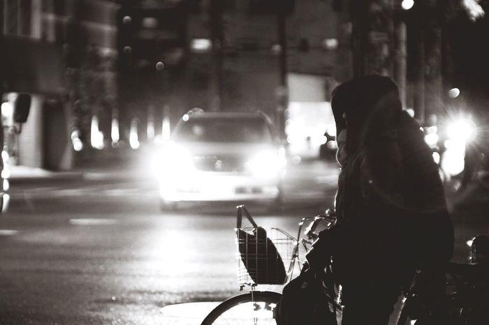 City Night Outdoors Road Jupiter9 EyeEm Gallery Black & White Fujifilm X-Pro1 Black And White Blackandwhite Bw_collection Fujifilm Xpro1
