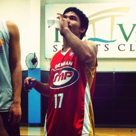 "Manny "" Pacman "" Pacqiao Playin Basketball"