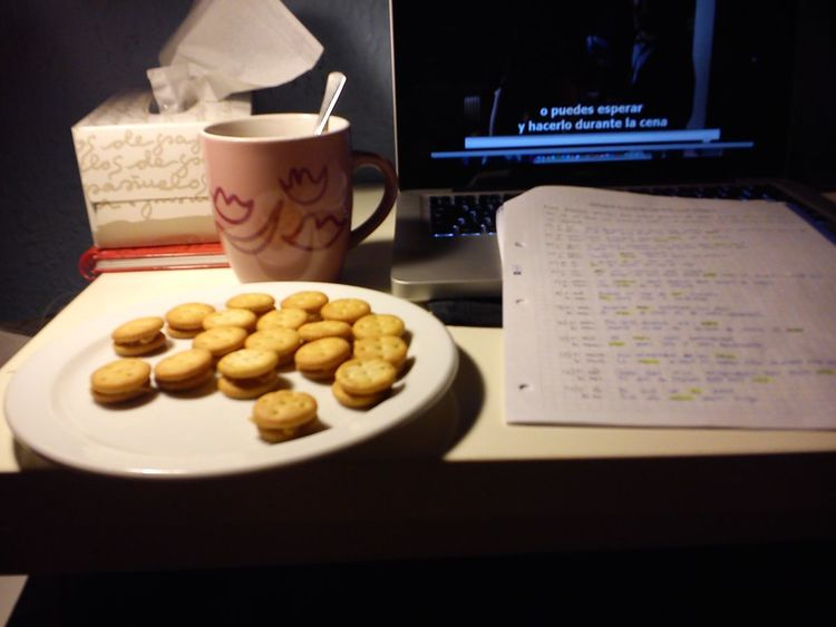 Snaks Hot Chocolate Studying Watching PLL !