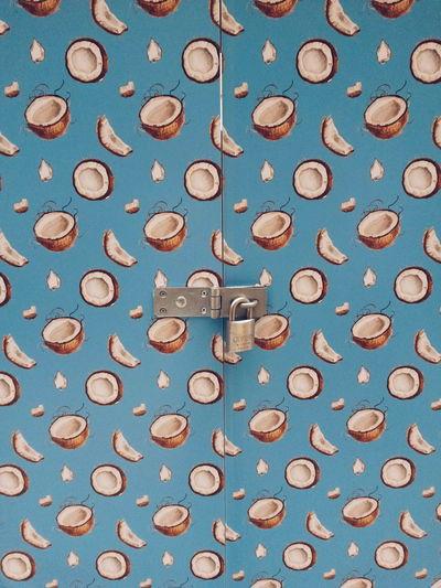 Door Doors Secret Wall Art Wall Textures Wall Door Coconut Pattern Backgrounds Keyhole Padlock Locked Lock