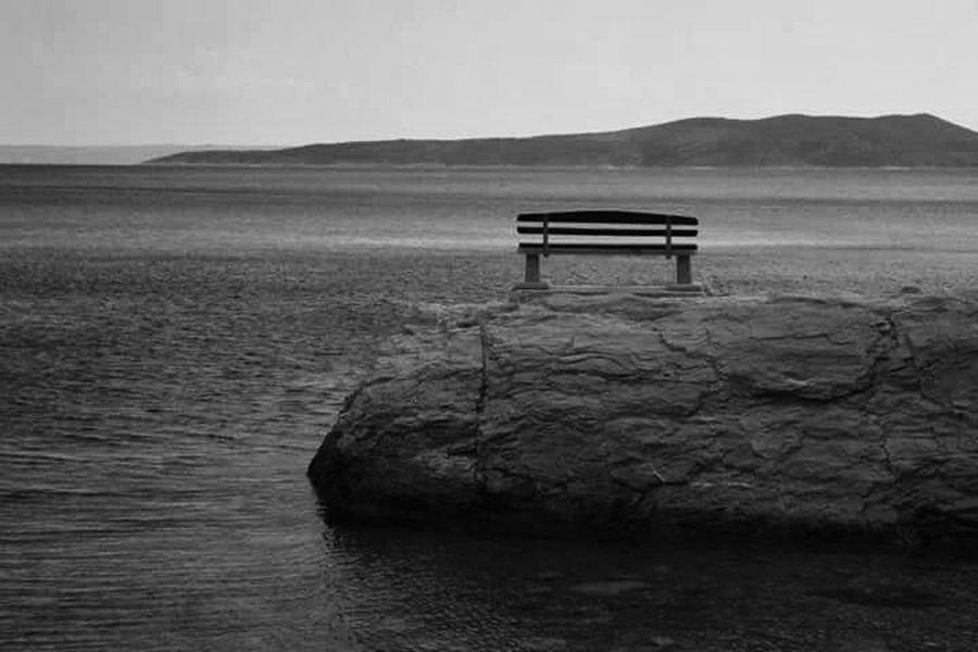 Sea Island Tranquillity Tranquil Scene Outdoors No People Black And White Photography Brela Beach Croatia ❤ EyeEmNewHere