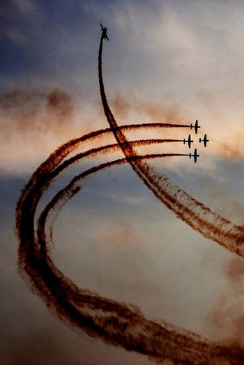 Had a lot of fun this year at the Bucharest international air show! Great pilots, great people, a lot of fun!Outdoors Flying BIAS2016 Smoke Planes Flight Acrobatic Flight Sunset Lines Crossing Awesome Sky Clouds EyeEm Ready   EyeEm Ready