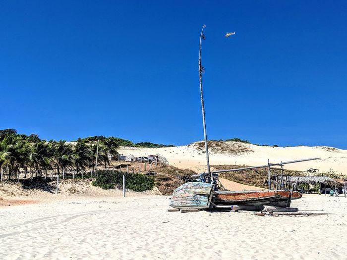 Clear Sky Beach Sand Blue Sunny Water Sky