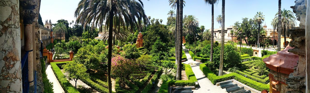 Panorama of Alcazar, Seville Game Of Thrones Sevilla SPAIN Gameofthrones Garden Alcazar Seville Gardens