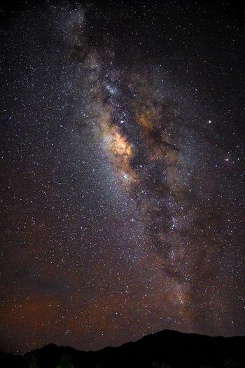 Night sky over