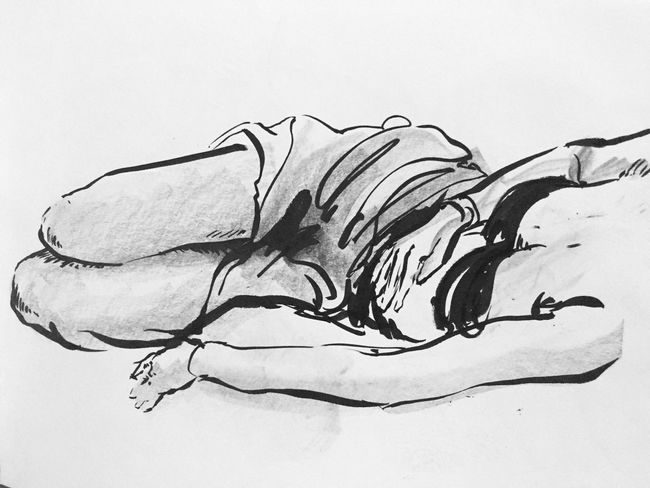 Lifedrawing, pen brush and ink on paper Artist Art, Drawing, Creativity ArtWork Art Sketch Pose Lifedrawing Ink Drawing White Background Studio Shot Ink No People Paper Close-up Day
