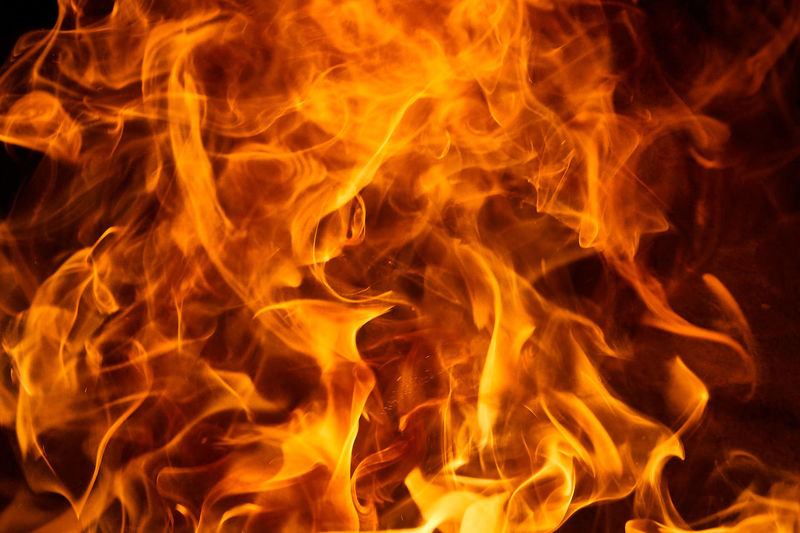 Full frame shot of fire at night