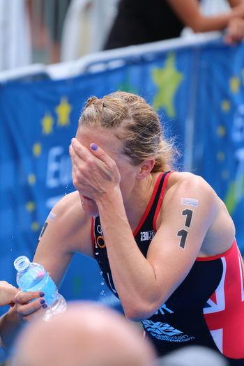 Adult Athlete Chateauroux Day ETU Sprint Head In Hands Only Women Shattered Triathlete TRIATHLON TriathlonLife