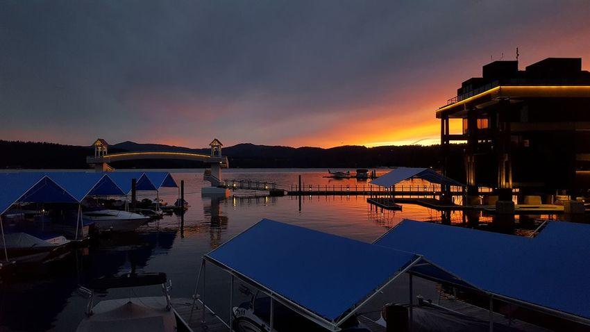 Showcase June Coeur D'Alene Resort Lake Sunset June2016 Boats View
