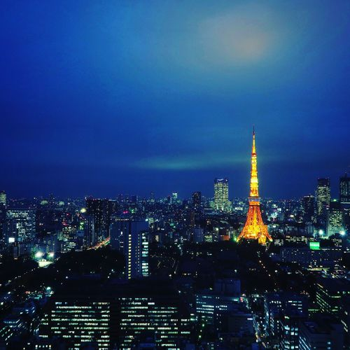 Architecture Cityscape City Building Exterior Illuminated Skyscraper Built Structure Night Travel Destinations Urban Skyline Modern Sky No People Outdoors Japan Tokyo