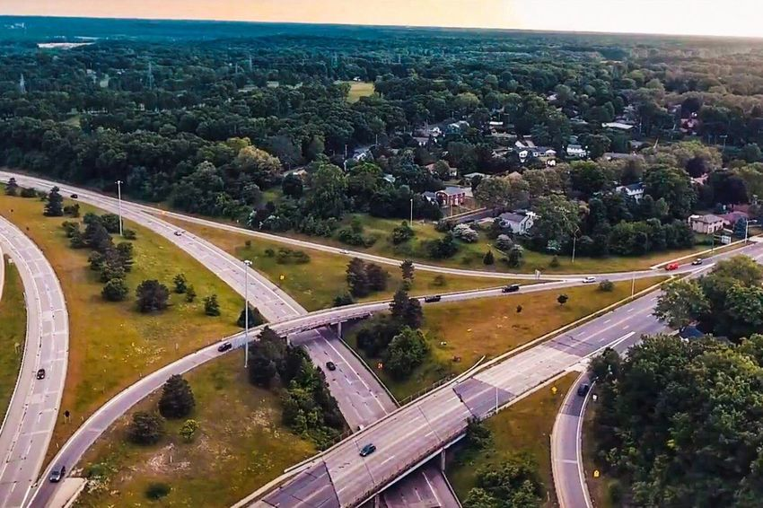 Let's travel. Transportation High Angle View Road Aerial View Traffic Outdoors City No People Landscape Nature Architecture Day Sky Drone  Dronephotography Drone Photography Droneshot