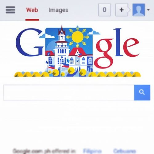 Happy Independence Day Philippines! 115 years of freedoooooom! :D Salute Philippineflag June12th Google Doodle Kalayaan2013 ProudFilipino