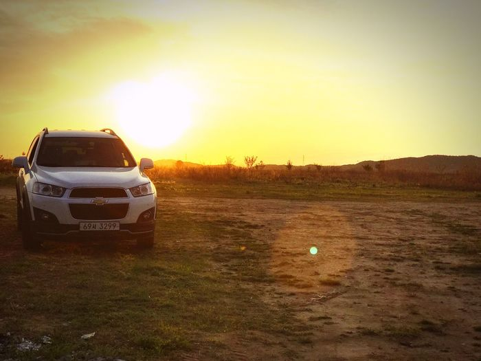 Sky Sunset Car No People Nature Landscape Adventure Outdoors Day 캡티바 쉐보레 MyCar Chevrolet Captiva First Eyeem Photo Nature
