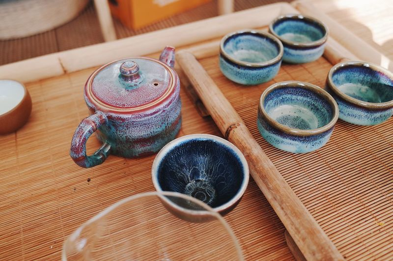 Vacations Design Wood Art Kitchen Interior Home Relaxing Lifestyles Drinks Tea Asian  Culture China History Beauty Tradition Multi Colored Textile Creativity Container Pattern