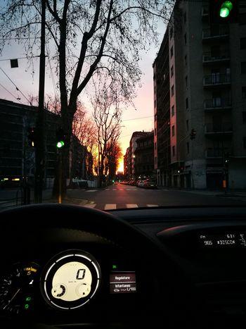 Car Milan,Italy Morning Light